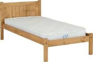 MAYA SINGLE 3ft SOLID DISTRESSED WAX PINE WOOD BED FRAME