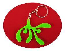 Green Mistletoe Bag Dangler, Key Ring and Lucky Charm Get Ready for Those Kisses