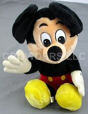"10"" Sitting Mickey Mouse Plush Stuff Animal Walt Disneyland Vintage Collectible"