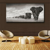 Large art prints Home Decor Canvas Painting Wall Art Elephant Migration