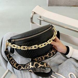 Waist Bag Women Thick Chain Shoulder Crossbody Chest Belt Designer Handbag Pack