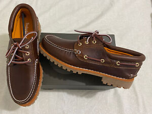Timberland Icon 3-Eye Classic Handsewn Lug Shoes MD Brown TB06500A Size 10.5