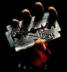 JUDAS PRIEST cd cvr BRITISH STEEL Official SHIRT MED New nobp