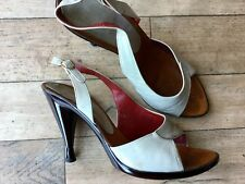 CHARLES JOURDAN RUSSELL BROMLEY VINTAGE 70's LEATHER Shoes 7 DISCO DECO STYLISH