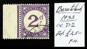BASUTOLAND 1933 - 2d Postage Due Fine/Used As Described DF423