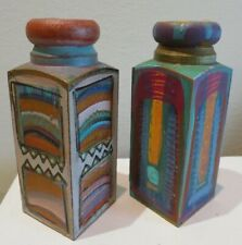 Hand crafted wooden artistic candlestick holders