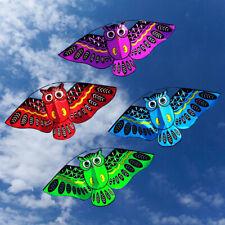 43'' Cute Owl Ainimal Vivid Kite Single Line Breeze Outdoor Fun Sports for Kids