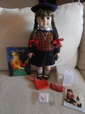 Vintage American Girl Doll Molly has Glasses 2 Books Hat Bag Coin Hankerchief
