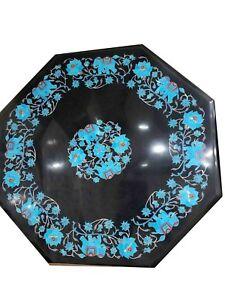 """18"""" Marble inlay semi precious stone Handmade Table Top home / garden decor"""