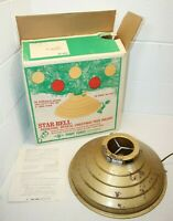 Vintage Star-Bell Revolving Musical Christmas Tree Stand Holder WORKS! some rust