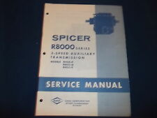 SPICER R-8000 SERIES 3 SPEED TRANSMISSION SERVICE SHOP REPAIR BOOK MANUAL