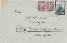 898 ) GREECE 1939 / 45 - COVER ECONOMIC CENSOR to GERMANY - RED CROSS