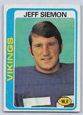 1978  JEFF SIMON - Topps Football Card - # 58 - MINNESOTA VIKINGS