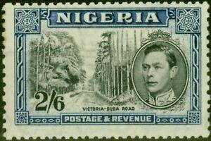 Nigeria 1938 2s6d Black & Blue SG58 P.13 x 11.5 Good Mtd Mint