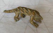 Small Solid bronze CAPE PANGOLIN  SCALY ANTEATER sculpture Bobo people Mali 3.5""
