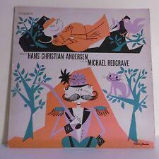 "33T Tales of Hans Christian ANDERSEN Read by M. REDGRAVE Vinyle LP 12"" 1073 Rare"