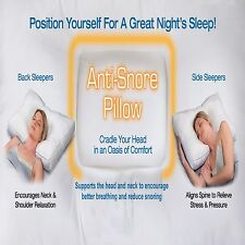 Unique Orthopaedic Anti Snore Pillow Non Allergenic - Helps to Relieve Snoring