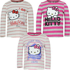 Hello Kitty T-Shirt Langarm Shirt Kleid Shorty Pyjama  Strickjacke