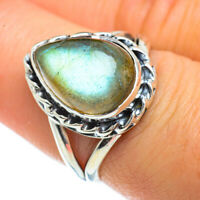 Labradorite 925 Sterling Silver Ring Size 7.75 Ana Co Jewelry R44094F