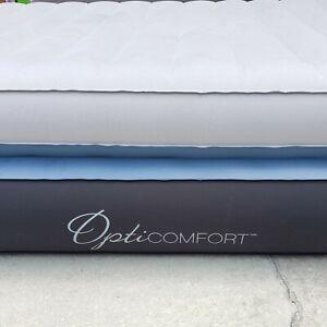 AeroBed Opti-comfort Queen Air Mattress w/ Built-in Pump and headboard