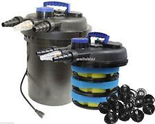 4000 Pond Bio Filter 13V UV Sterlizer Biological Mechanical Pressure + Bio Ball