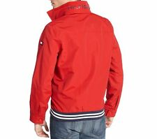 NWT TOMMY HILIFGER MEN'S  FULL ZIP HOODIE JACKET COAT LARGE L RED