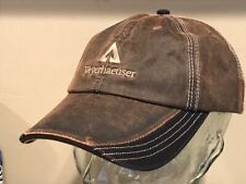 Weyerhaeuser Wood Lumber Timbers Timberland Forest Leather Oil Hat Cap      NEW
