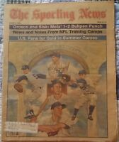 Rick Ferrell Red Sox Hall Of Famer Dual Signed 1984 Sporting News Full Issue