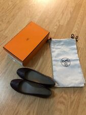 Hermès Women Neuilly Glossy Calfskin Flats size 38-NIB