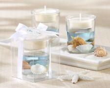 60 Beach Glass Seashell Tea Light Holder Wedding Shower Gift Party Favors