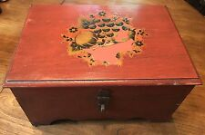 Vintage Antique Jewelry Box/ Storage Chest/ Trinket Box- Solid Wood- 1940's