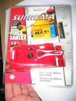 3 NOS Cameras Suprema 35mm  F-1 Race Car & Kodak 2pack FunSaver Bell Howell 35MM