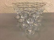 Lenox Crystal MONTCLAIR Platinum Banded Wine Stems - Set of 10