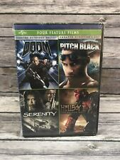 4 Film Sci-Fi DVD Set - Doom - Pitch Black - Serenity - Hellboy II 2 - NEW