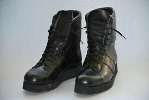 Army / Military rare black leather size 12 boots, Davos Made In Italy sole, SF ?