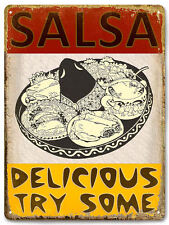 SALSA TACOS MEXICAN food METAL sign / VINTAGE style RESTAURANT wall decor 586
