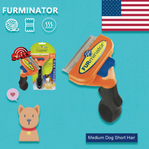 FURminator Undercoat Deshedding Tool for Dogs ( Medium -short Hair)