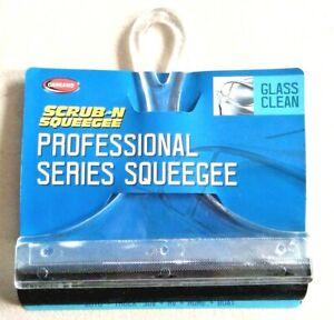 """CARRAND Scrub-n-Squeegee 9017 glass arcrylic 6"""" rubber blade car truck RV SUV"""