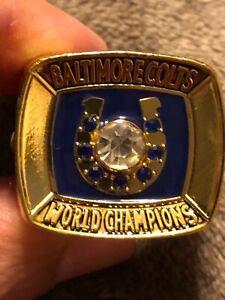 1970 JOHNNY UNITAS COMMEMORATIVE CHAMPIONSHIP RING COLTS SIZE 11