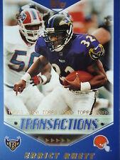 NFL 180 Errict Rhett Cleveland Browns Topps 2000 Transactions