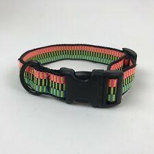 "Bison Designs NEON Dog Collar CLIP Adjustable BRIGHT Multicolor 10-16"" USA Made"