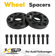 (2) 15mm 5x100 / 5x112 Hubcentric Wheel Spacers Adapters for VW Audi 57.1mm Bore