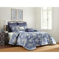 Cannon 7-Pc FULL / QUEEN FQ  Blue Rose Floral Comforter Set