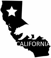 california state with bear decal