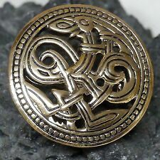 2x  sehr stabile Scheibenfibel Schürzenfibel Öse Bronze Haithabu Wikinger Fibel