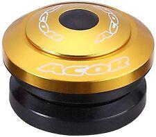 """ACOR Auricolare Completamente Integrato 1.1/8"""" MTB BICICLETTA BICI IN LEGA D'ORO 41.8mm CUSCINETTI"""