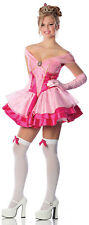 Ladies Sexy SLEEPING CUTIE Beauty Costume Pink Dress + Tiara Medium Large 6 8 10