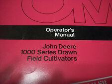 John Deere Tractor Operator'S Manual 1000 Series Drawn Field Cultivators Iss. H3