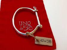 "NWT Uno de 50 Rigid Silver Plated Bracelet 6"" ""Shackled""  $145"