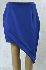 **DOTTI** BNWT $49.95 Wrap Skirt 12 Blue M Layered Asymmetrical